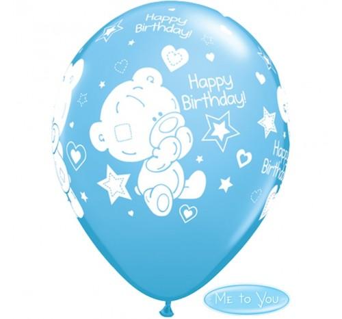 Balon latex Ursulet Happy Birthday 28 cm