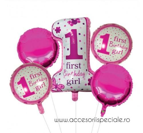 Buchet Baloane Aniversare 1 An - Girl 2