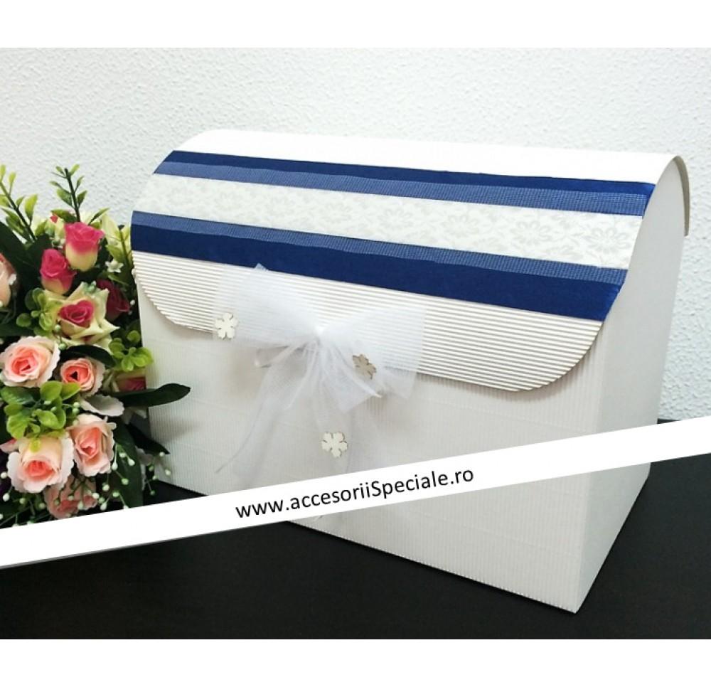 Casuta de Bani Eleganta Bleumarin