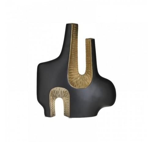 Vaza Ceramica Negru - Auriu